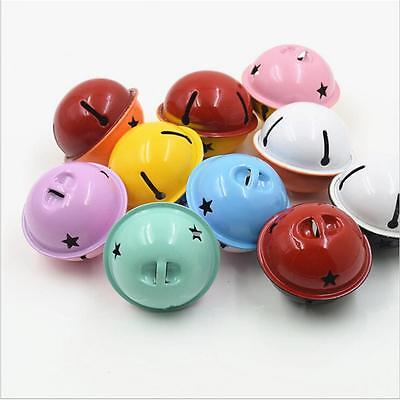 10 Pcs Colorful Iron Loose Beads Christmas Jingle Bells Jewelry Charms 4x3.5 cm