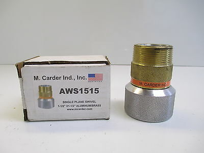 M Carder Ind Single Plane Swivel Aws1515 New Manufacturing Fuel Delivery