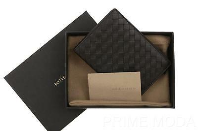 New Bottega Veneta Brown Intrecciato Nappa Leather Bi-Fold Passport Case Wallet