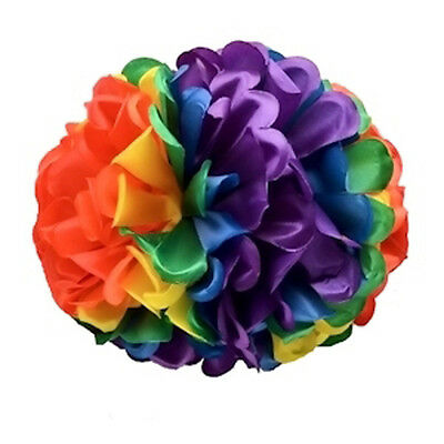 Pride Shack - Large Rainbow Gay Pride Floral Bow Hair Clip or Party Decoration