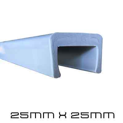 1 Meter 25mm X 25mm Bumper Cover / C Section Boat Trailer Plastic Skid Covers