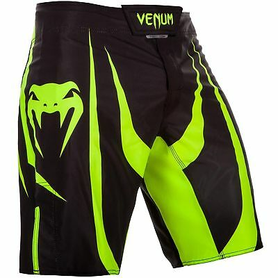 Venum Predator X Fight Shorts UFC NoGi MMA BJJ Black Neo Yellow
