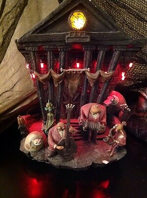 RARE Disney Nightmare Before Christmas Town Hall Band Village Light Up Halloween