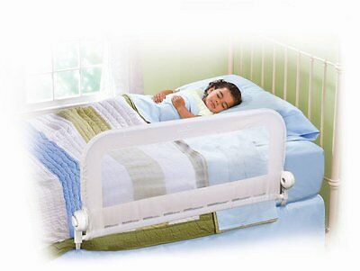 Bed Rail Bed Guard Infant Toddler Grow with Me Single Bedrail (White) NEW