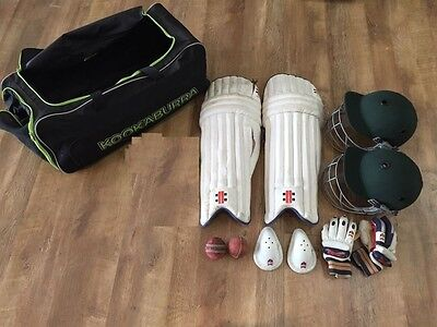 cricket set COUNTY helmet v300 glove and bag