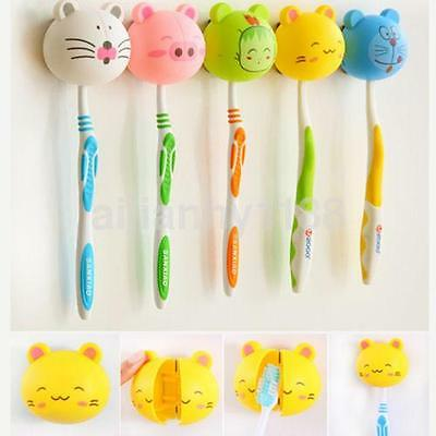 Cute Plastic Hanging Stand with Cover Suction Cup Chopstick Holder Toothbrush UK