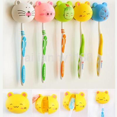 Cute Plastic Hanging Stand with Cover Suction Cup Chopstick Holder Toothbrush AU