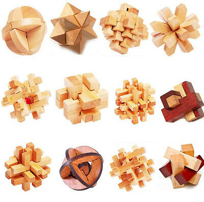 Wooden Toy Luban 1Pcs Traditional Lock Intellectual Cube Chinese Kong Ming