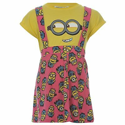 Despicable Me Minions Brace Dress & T-Shirt Set Infant Girls Yellow/Pink Outfit