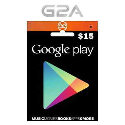 $15 USD Google PLAY CARD - 15 Dollars Google Play Store GIFT Code Android Key