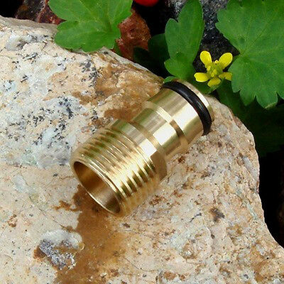"""1x Brass Hose Quick Connect Male Threaded Water Tap Connector 1/2"""""""