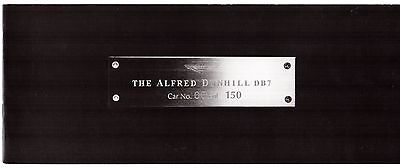 Aston Martin DB7 Alfred Dunhill Limited Edition 1998 UK Market Sales Brochure