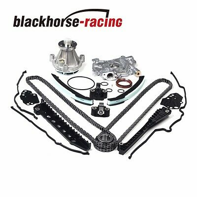 Timing Chain Oil&Water Pump+Cover Gasket 04-08 For Ford F150 Lincoln 5.4L 3V