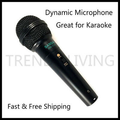 Dynamic Microphone Unidirectional Microphone for Karaoke Vocal Recording Black