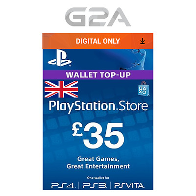 Playstation Network £35 Card - PSN 35 GBP UK Store Key / PS4 PS3 PSP - 35 Pounds
