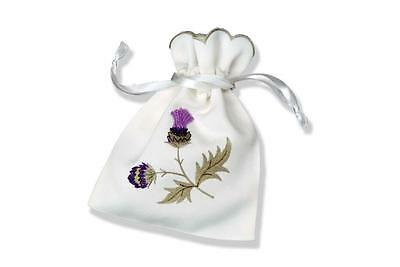 Alba Thistle Embroidered Pot Pourri Bag