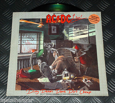 "AC/DC 'Dirty Deeds.. Live' 3-track 12"" Maxi Single EP UK '93 ORG V.Rare OOP ACDC"