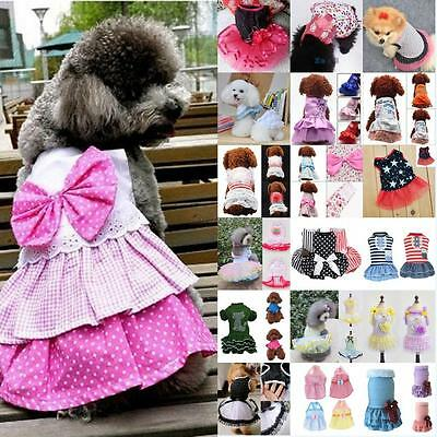 Pet Dog Cat Princess Bow Tutu Dress Lace Skirt Puppy Dog Skirt Apparel Clothes