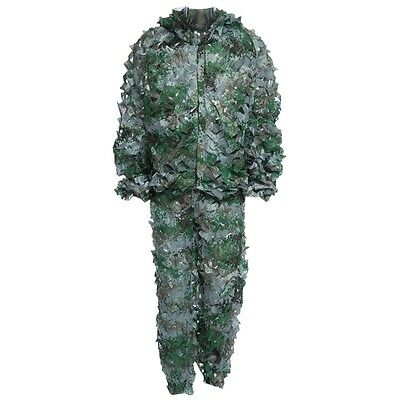 3D Ghillie Bionic Suit With Leafy Camouflage For Jungle Hunting Woodland #2