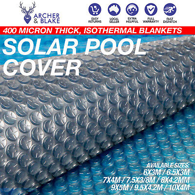 Solar Swimming Pool Cover 400 Micron Outdoor Bubble Blanket Thermal
