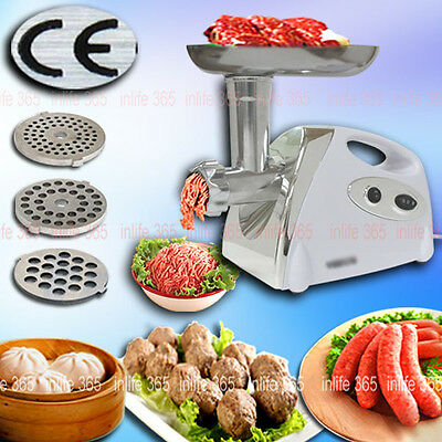 Meat Grinder 2800W Stainless Steel Electric Mincer Sausage Maker Filler AU Stock