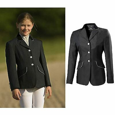 "Equi-Theme Kids ""Competition"" Jacket Black/Black Velvet"
