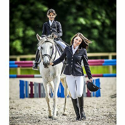 Equi-Theme Kids ?Soft White? Competition Jacket Black