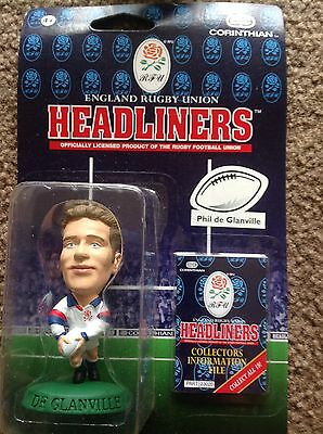 CORINTHIAN HEADLINERS ENGLAND RUGBY UNION de Glanville SEALED IN BLISTER PACK