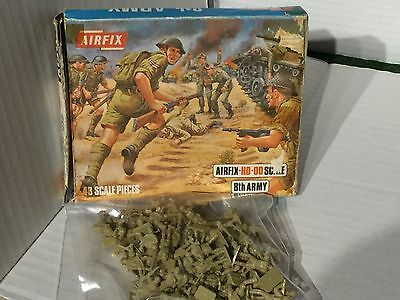Vintage Airfix HO Scale British 8th Army Infantry  Boxed