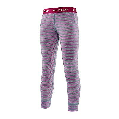 Devold Breeze Kid Long Johns (peony-stripes)