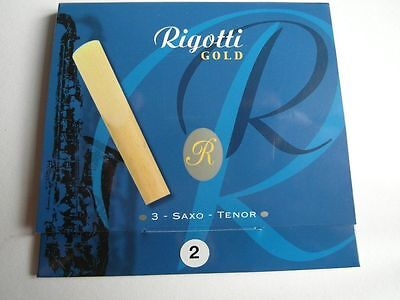 RIGOTTI GOLD RGT20/3- 3 anches-reeds saxophone tenor Force 2- NEW