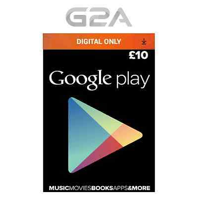 £10 GBP Google PLAY Store GIFT CARD - 10 Pounds Google Play Android Key Code UK