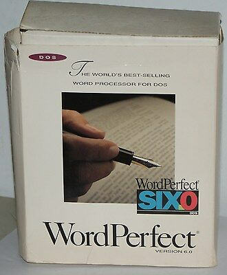 WordPerfect Version 6.0 For DOS