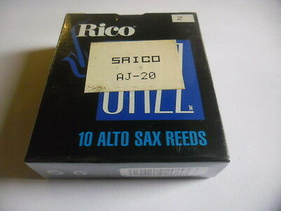 RICO JAZZ 10 Anches-reeds Alto saxophone Force 2- Sib 2- NEW