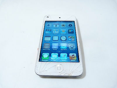 Apple iPod Touch 4th Generation White (8 GB) - Crack in Glass - 3ZKL