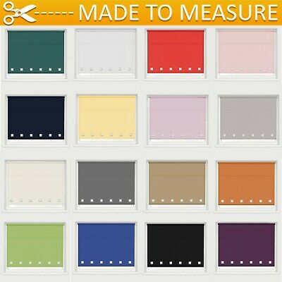 Made To Measure Square Eyelet Roller Blind - Up To 160Cm Drop - Dim Out Roller