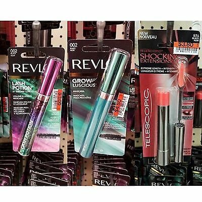 10 Pack of Assorted L'Oreal and  Revlon Mascara Lot,Different Colors and Variety