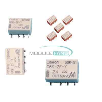 5PCS DC 3V 5V 12V 24V SMD G6K-2F-Y-3VDC Signal Relay 8PIN for Omron Relay