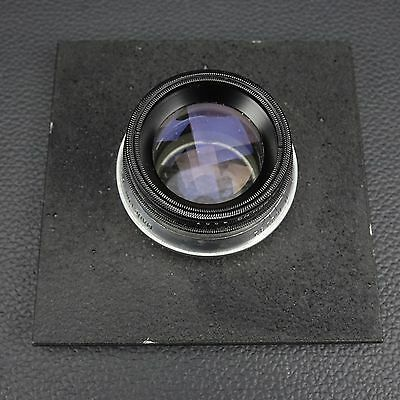 """Ilex  f/4.5 5 1/2 inch Large Format Enlarging Lens 4x5 with 4"""" Mounting Board"""