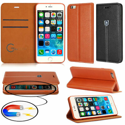 New Genuine Gorilla Tech Leather Wallet Flip Cover Stand Case For Mobile Phones