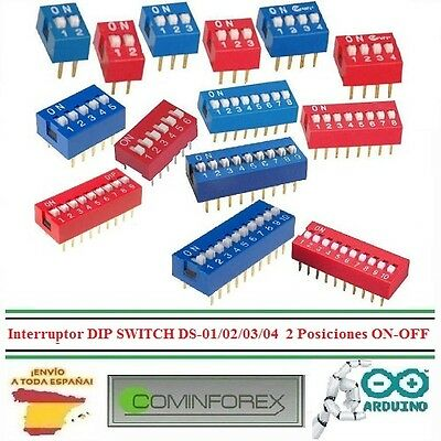 Interruptor DIP SWITCH DS-01/02/03/04   2 Posiciones ON-OFF Toggle Switch Snap