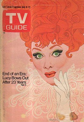 1974 TV Guide July 6 - Lucy says Farewell; Charlie Andrews; Wombledon;Japan Nude