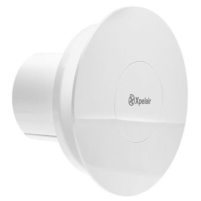 Xpelair Quiet Simply Silent Bathroom Extractor Fan - Humidistat & Timer - Round