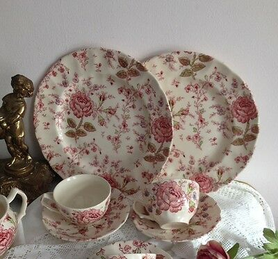 "2 X Trio ""rose Chintz"" By Johnson Brothers"