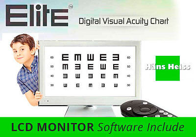 Elite LCD Vision Chart Monitor (software included/monitor NOT Included)