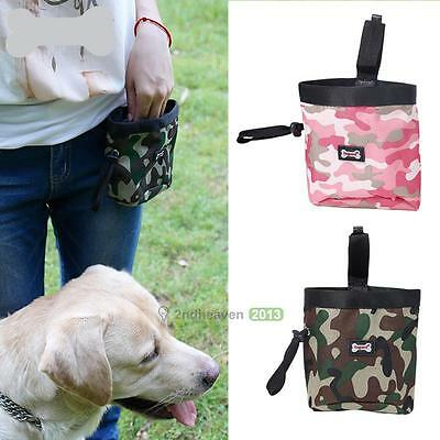 Cool Dog Puppy Snack Obedience Agility Bait Training Bag Food Treat Pouch Holder