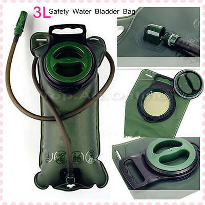 3L Water Bladder Bag BackPack Hydration System Camelbak Pack Camping Outdoor