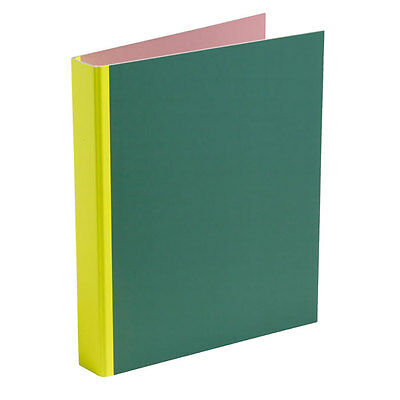 Spine Binder Ordner Flourescent Yellow Hay Design