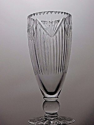 Cut Glass Lead Crystal Pedestal Display Crystal Vase Home 23.5 Cm Tall