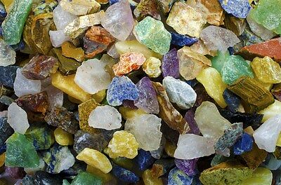 South American Premium Mix - 3 Pounds Tumble Rough Rocks and Stones for Tumbler
